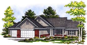 Ranch House Plan 99185 Elevation
