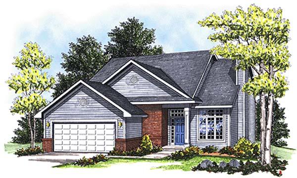 Country House Plan 99187 with 4 Beds, 3 Baths, 2 Car Garage Front Elevation