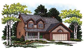 Country , Bungalow House Plan 99188 with 4 Beds, 3 Baths, 2 Car Garage Elevation