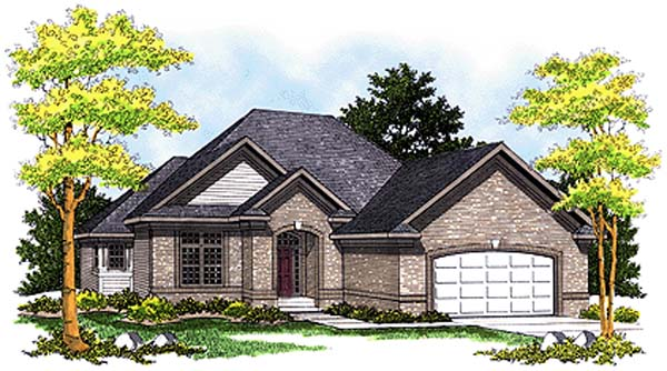 European House Plan 99192 Elevation