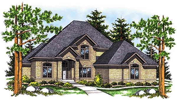 European House Plan 99193 Elevation