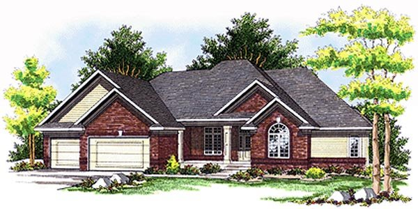 European House Plan 99194 Elevation