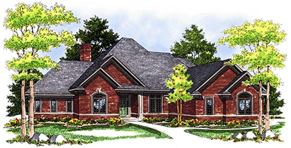 European House Plan 99196 Elevation