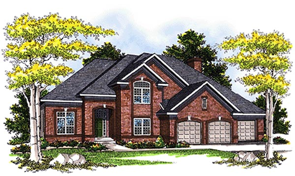 European Tudor House Plan 99197 Elevation