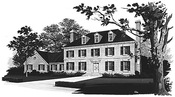 Colonial House Plan 99203 Elevation