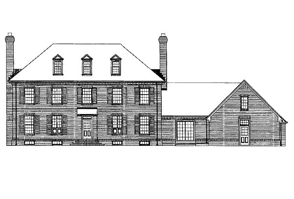 Colonial House Plan 99203 Rear Elevation