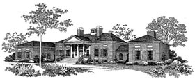 House Plan 99204 | Colonial Style Plan with 5083 Sq Ft, 4 Bedrooms, 5 Bathrooms, 2 Car Garage Elevation