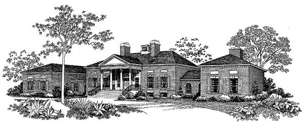 Colonial House Plan 99204 Elevation