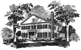 Colonial House Plan 99209 Elevation