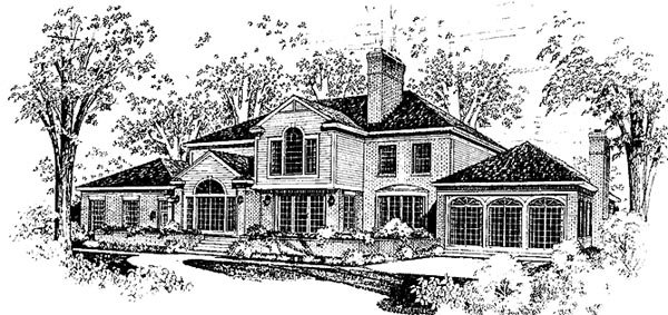 Colonial Plantation House Plan 99213 Rear Elevation