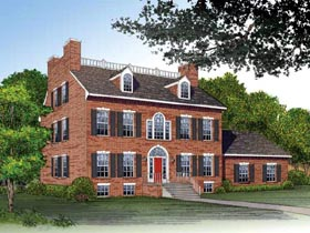 Colonial House Plan 99215 Elevation