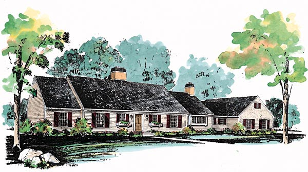 Ranch House Plan 99220 Elevation