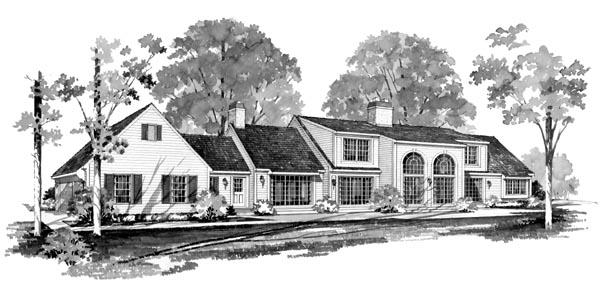 Ranch House Plan 99220 Rear Elevation