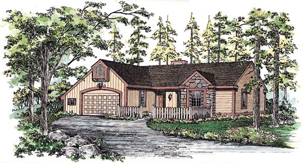 Ranch House Plan 99223 Elevation