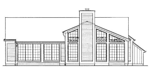 Ranch House Plan 99223 Rear Elevation