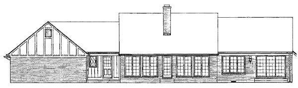 Bungalow Tudor House Plan 99225 Rear Elevation