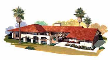 Mediterranean Southwest House Plan 99226 Elevation