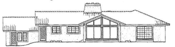 Mediterranean Southwest House Plan 99226 Rear Elevation