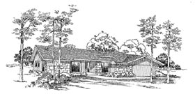 Bungalow Ranch House Plan 99232 Elevation