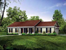 House Plan 99233 | Ranch Style Plan with 1536 Sq Ft, 3 Bedrooms, 2 Bathrooms Elevation