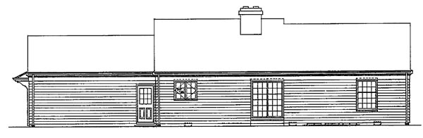 House Plan 99233 | Ranch Style Plan with 1536 Sq Ft, 3 Bedrooms, 2 Bathrooms Rear Elevation