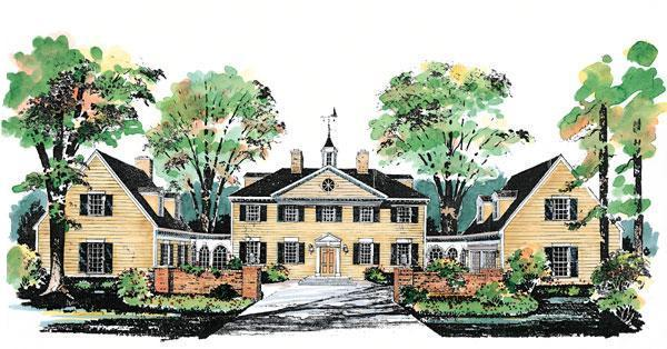 Colonial Country House Plan 99236 Elevation