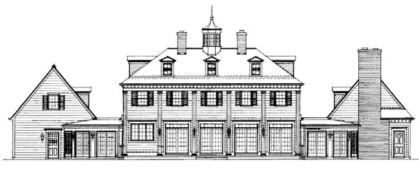 Colonial Country House Plan 99236 Rear Elevation