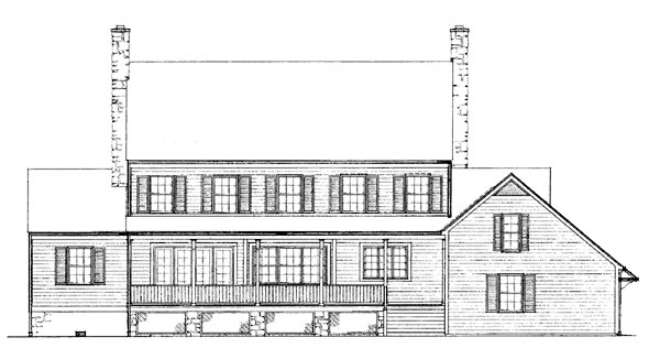Colonial Country House Plan 99239 Rear Elevation