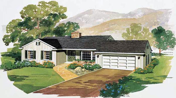Ranch House Plan 99241 Elevation