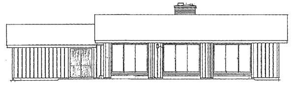 Ranch House Plan 99241 Rear Elevation