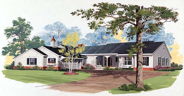 Farmhouse, One-Story, Ranch House Plan 99246 with 3 Beds, 3 Baths, 2 Car Garage Elevation