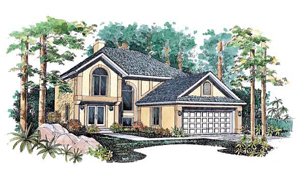 European House Plan 99248 Elevation