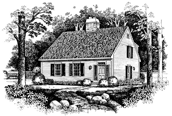 Cape Cod Country House Plan 99249 Elevation