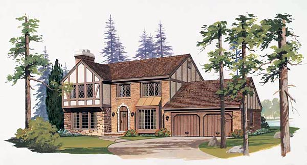 Bungalow House Plan 99252 with 3 Beds, 3 Baths Elevation