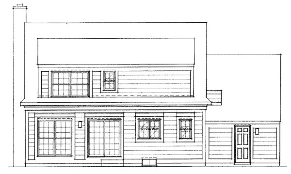 Country House Plan 99253 Rear Elevation