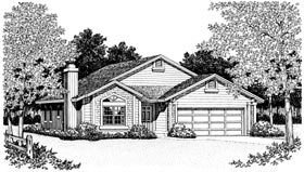 Bungalow Country Ranch House Plan 99254 Elevation
