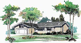 Ranch House Plan 99256 Elevation