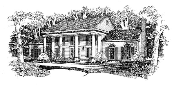 Colonial House Plan 99269 Elevation
