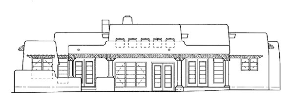 Santa Fe Southwest House Plan 99274 Rear Elevation