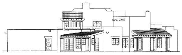 Santa Fe Southwest House Plan 99275 Rear Elevation