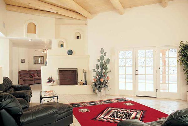 Southwest, SantaFe, House Plan 99276 with 4 Beds, 3 Baths, 3 Car Garage