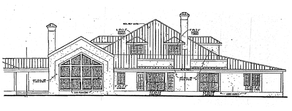 Prairie Style Southwest House Plan 99278 Rear Elevation