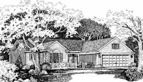 House Plan 99283 | Ranch Style House Plan with 1970 Sq Ft, 3 Bed, 2 Bath, 2 Car Garage Elevation