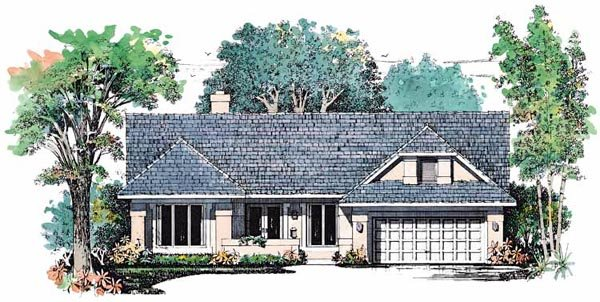 House Plan 99284 Elevation