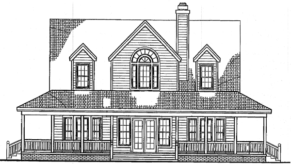 Country Farmhouse House Plan 99285 Rear Elevation