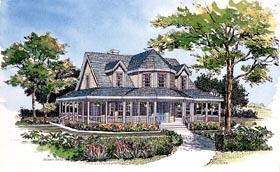 Farmhouse Victorian House Plan 99286 Elevation
