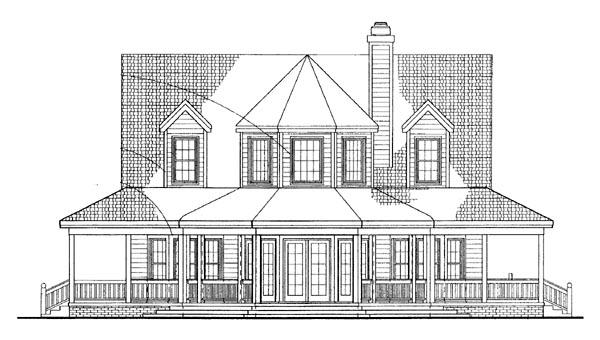 Farmhouse Victorian House Plan 99286 Rear Elevation