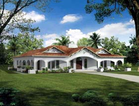 Mediterranean House Plan 99287 Elevation