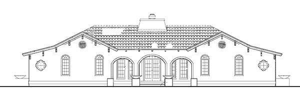 Mediterranean House Plan 99287 Rear Elevation