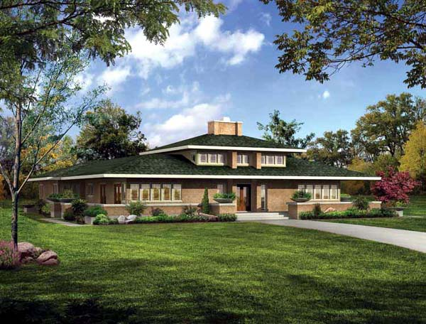 Prairie Style , Southwest House Plan 99289 with 5 Beds, 4 Baths Elevation